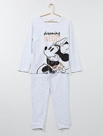 Fille 3-12 ans - Pyjama en velours 'Minnie' - Kiabi