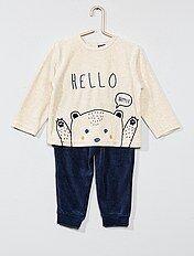 Pyjama en velours 'ours'