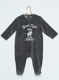 Pyjama, peignoir - Pyjama en velours 'ours'