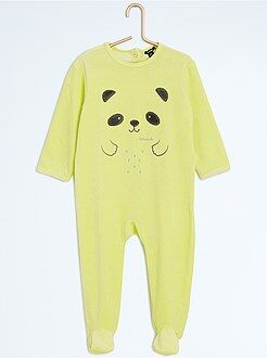 Pyjama en velours 'panda'