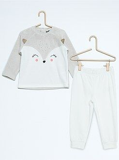 Pyjama, peignoir - Pyjama en velours 'renard'