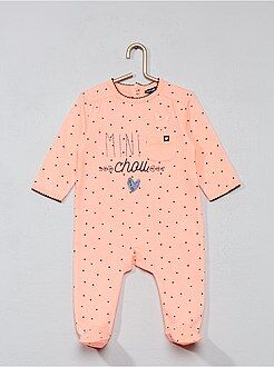 Pyjama imprimé 'coeur' - Kiabi
