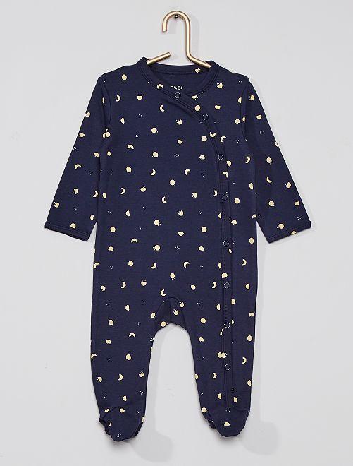 Pyjama imprimé éco-conçu                                                                                         marine