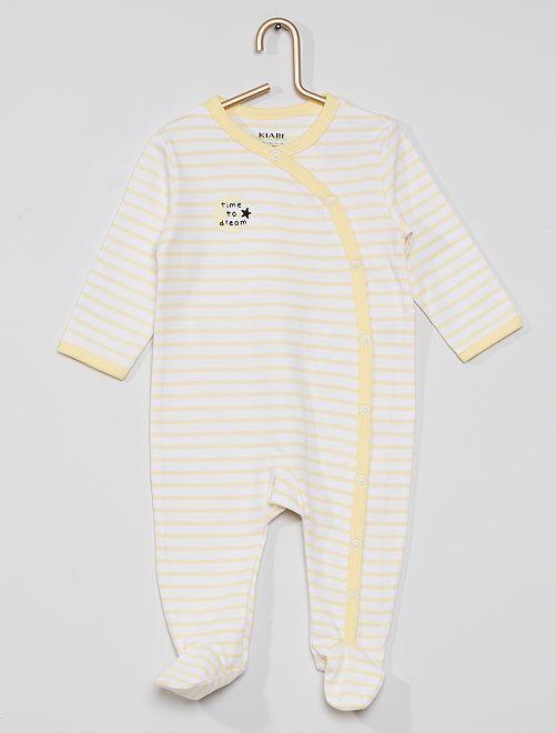 Pyjama imprimé éco-conçu                                                                                         rayé jaune