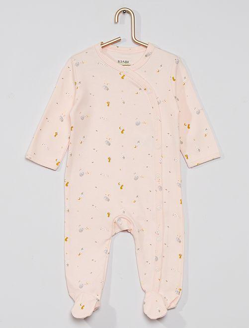 Pyjama imprimé éco-conçu                                                                                         rose