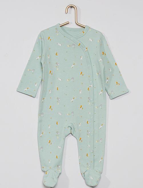 Pyjama imprimé éco-conçu                                                                                         vert amande