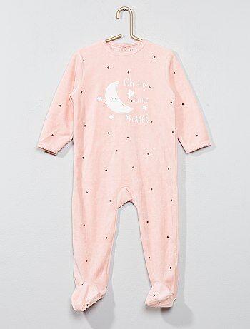 Pyjama imprimé en velours - Kiabi