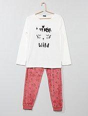 Pyjama imprimé en velours