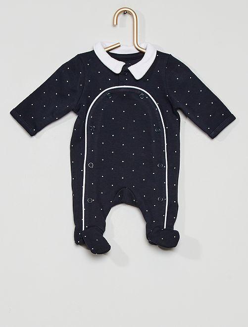 Pyjama interlock éco-conçu                                                     bleu