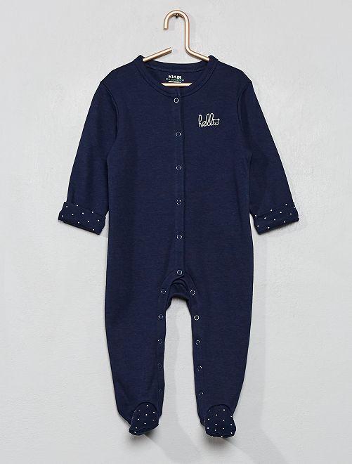 Pyjama jersey 'éco-conception'                                                                 bleu marine