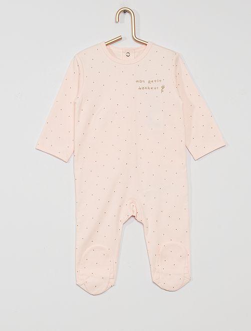Pyjama jersey                                                                                                                                                                                                                                                     rose pois