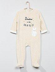 Pyjama 'lapin' en velours