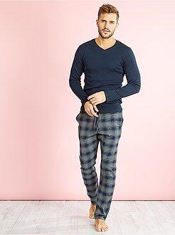 Pyjama, peignoir - Pyjama long 2 pièces en coton