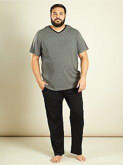 Pyjama long 2 pièces en coton