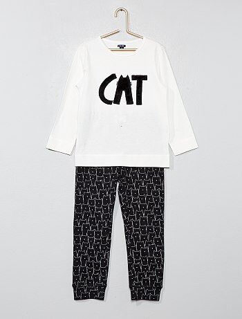 Pyjama long animation chat - Kiabi