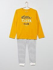 Pyjama long avec imprimé