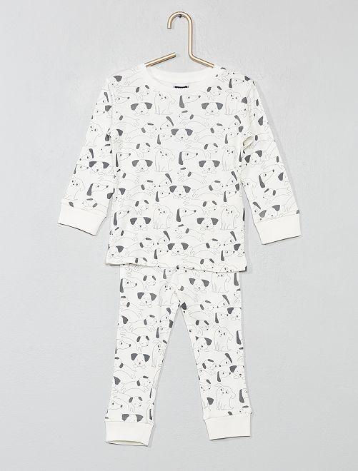 pyjama long 39 chien 39 b b gar on cru chien kiabi 10 00. Black Bedroom Furniture Sets. Home Design Ideas