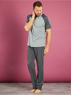 Homme du S au XXL Pyjama long col polo