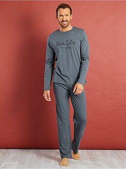 Homme du S au XXL Pyjama long coton imprimé