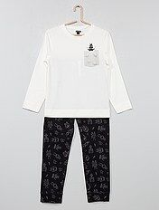 Pyjama long en jersey avec imprimé