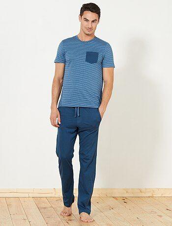 Homme du S au XXL - Pyjama long en jersey - Kiabi