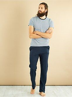 Homme du S au XXL Pyjama long en jersey pur coton