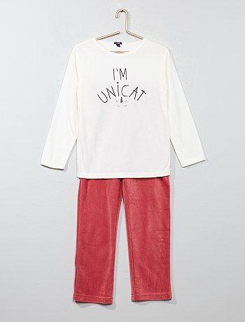 Pyjama long en polaire - Kiabi