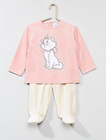 Pyjama long en velours 'Marie' - Kiabi