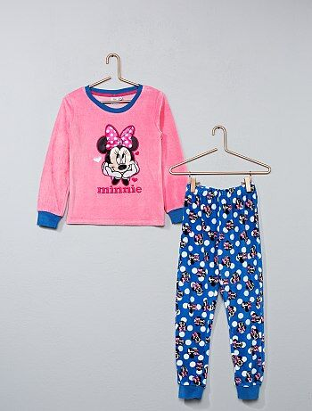 Pyjama long en velours 'Minnie' - Kiabi