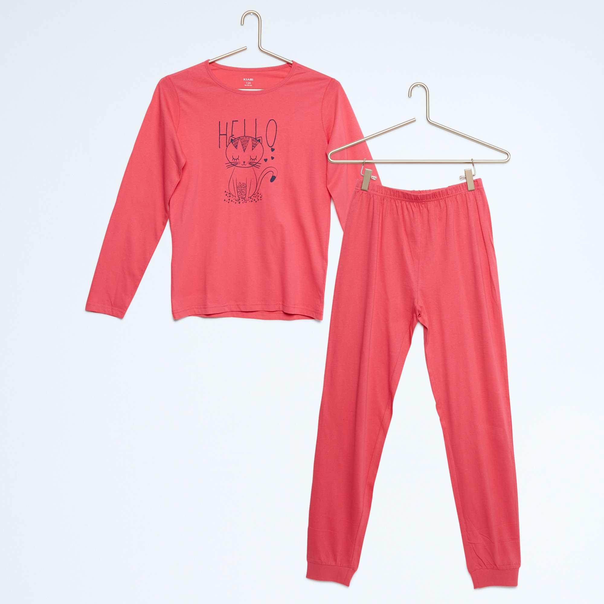 pyjama long imprim fille kiabi 5 00. Black Bedroom Furniture Sets. Home Design Ideas
