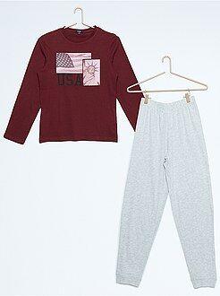 Pyjama, peignoir - Pyjama long imprimé 'New-York'