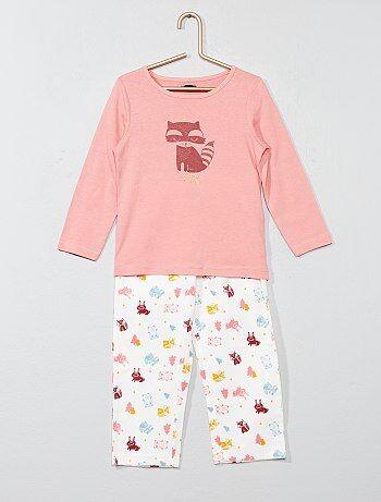Pyjama long imprimé renard - Kiabi