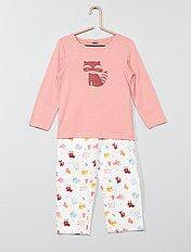 Pyjama long imprimé renard