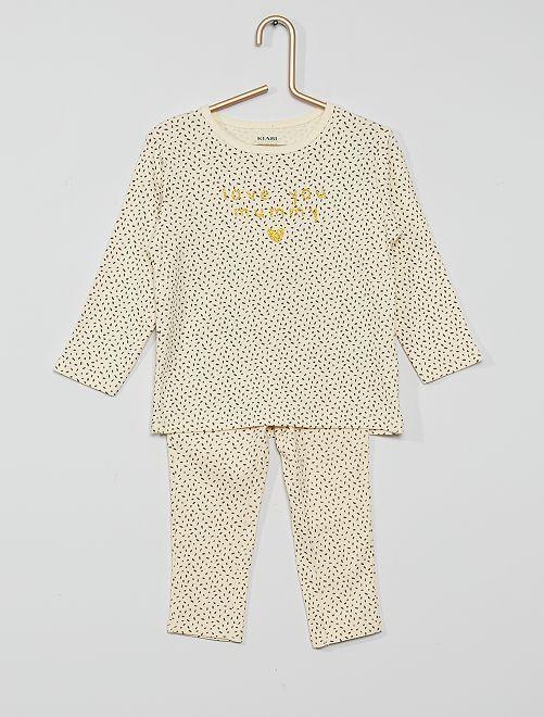 Pyjama long jersey                                                     beige