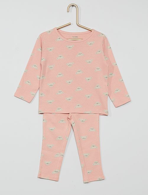 Pyjama long jersey                                                     rose