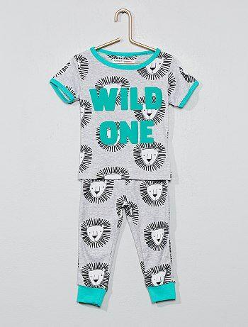 73e9bf05d2a93 Garçon 0-36 mois - Pyjama long  lion  - Kiabi