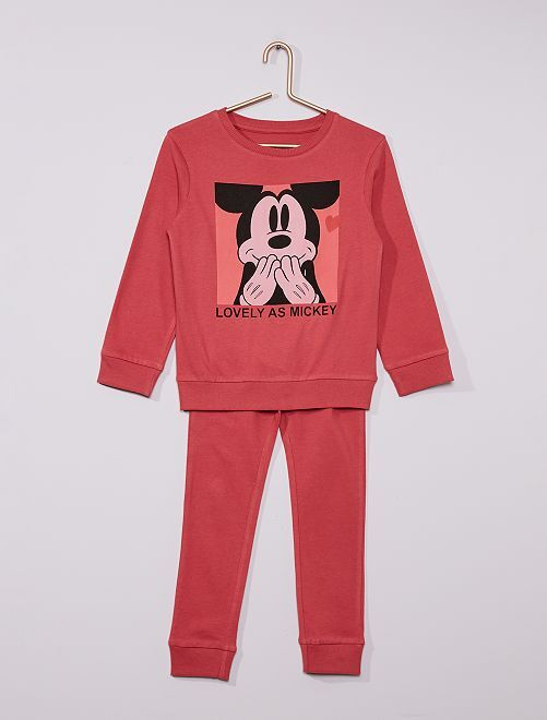 Pyjama long 'Mickey' éco-conçu                             rose