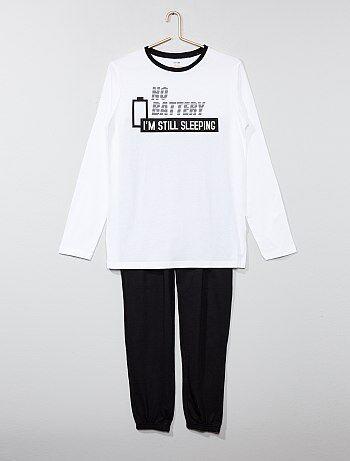 Pyjama long pur coton - Kiabi
