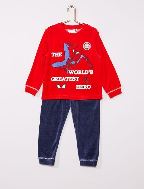 Pyjama long 'Spider-Man'                                         rouge/gris