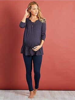 Allaitement, grossesse - Pyjama maternité brassière d'allaitement intégrée