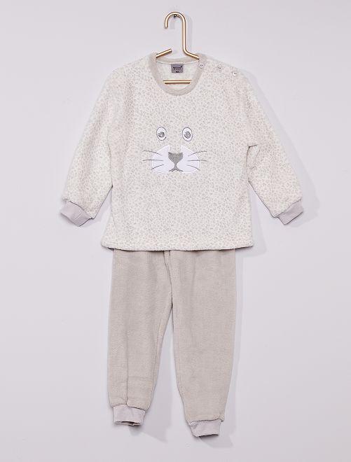 Pyjama polaire 'panthère'                             gris