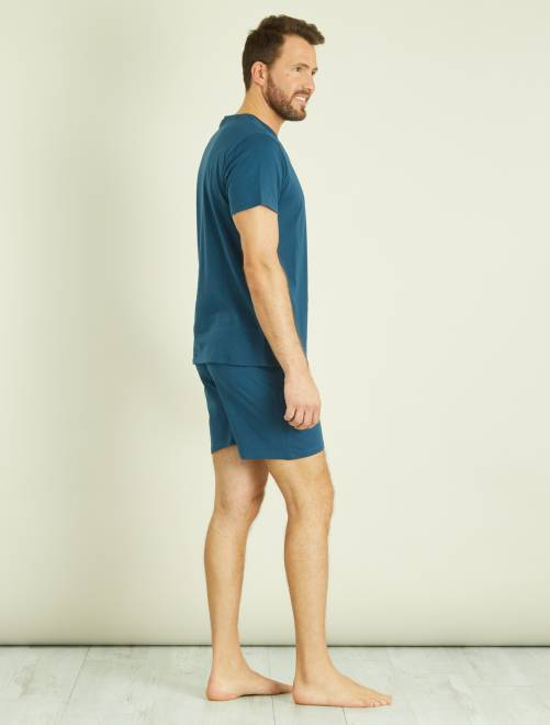 pyjama short en coton homme kiabi 7 00. Black Bedroom Furniture Sets. Home Design Ideas