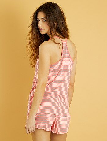 Pyjama short imprimé - Kiabi
