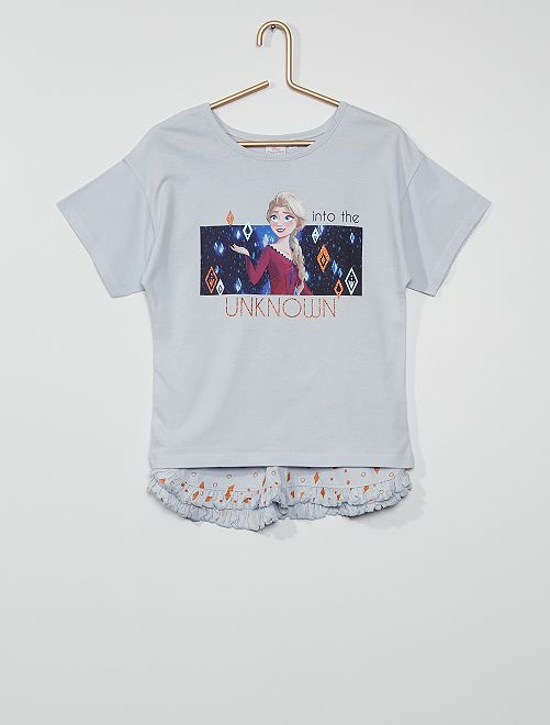 Pyjama short la 'Reine des Neiges'                                         bleu