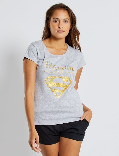 Pyjama 'Supergirl'                             noir