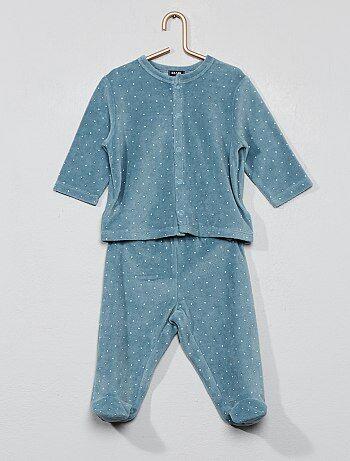9b6d48acb14dc Garçon 0-36 mois - Pyjama velours coton bio - Kiabi