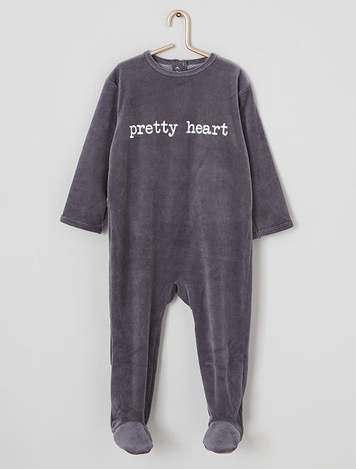 Pyjama velours                                                                 gris/pretty