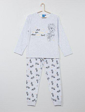 Pyjama velours 'La Reine des neiges' - Kiabi