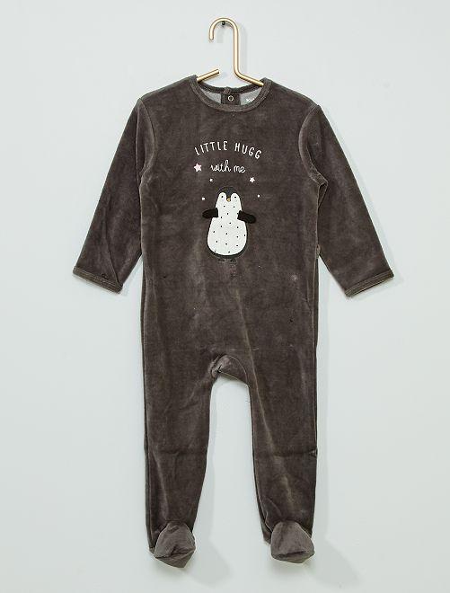Pyjama velours                                                                                                     pinguoin