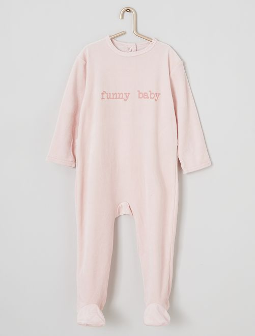 Pyjama velours                                                                 rose/funny
